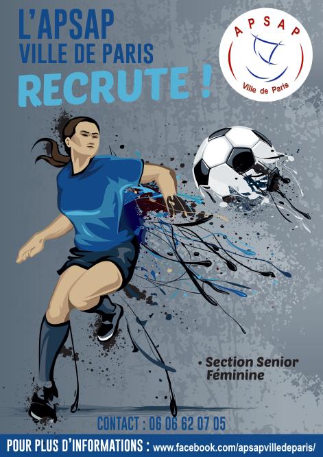 APSAP Paris recrute des filles pour son équipe de foot