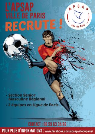 Affiche recrutement APSAP foot
