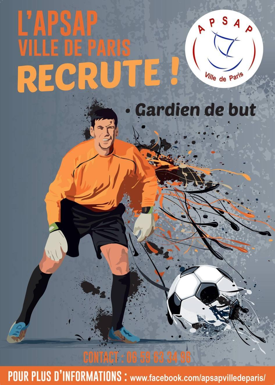 Apsap ville de paris recrute des gardiens de but foot