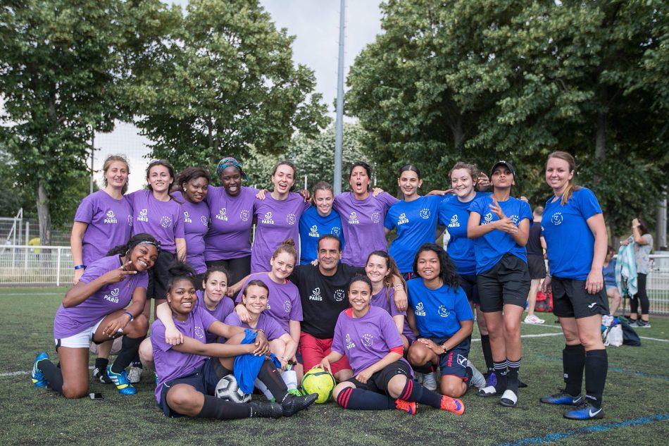 Equipe féminine Foot APSAP - FETE DU SPORT